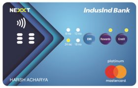 Hinduja Group backed IndusInd Bank has launched India's first interactive credit card, Has Buttons For EMI, Rewards